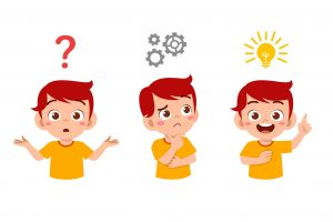 Happy,Cute,Little,Kid,Boy,Thinking,And,Searching,Idea,Process